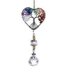 Suncatcher Crystal Hanging Pendant Handmade Window Ornament(Heart Shape Style)