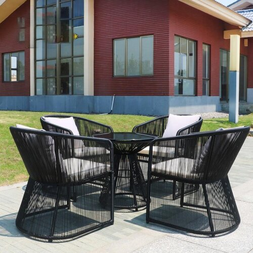 Outdoor Tables And Chairs Patio Rattan Chair Creative Balcony Tables And Chairs Outdoor Furniture Rattan Tea Table Combination
