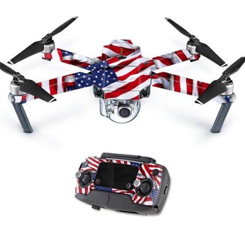 MightySkins DJMAVPRO-Patriot Skin Decal Wrap for DJI Mavic Pro Quadcopter Drone Cover Sticker - Skins Patriot