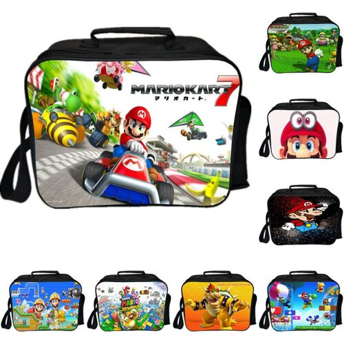 Mario Insulated Lunch Bag Portable Food Storage