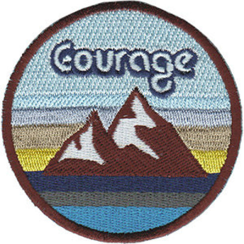 Patch - Inspirational - Courage With Mountains Icon-On p-dsx-4856