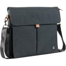 PKG International City Slim Messenger Bag (Dark Gray)