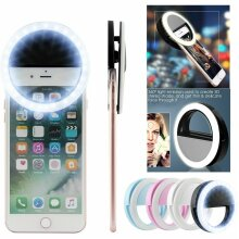 LED Selfie Ring Light Lamp Flash Fill Clip Camera For Phone & Tablet