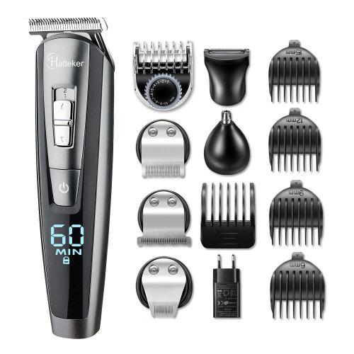 Hatteker Men's Cordless 5-in-1 Grooming Kit | Hair & Beard Trimmer