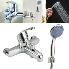 Bathroom Chrome Sink Bath Filler Tap Shower Mixer Taps with Hand Held