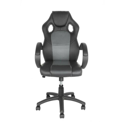 Adjustable Faux Leather Racing Seat (Black)