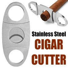 Stainless Steel Pocket Double Blades Cigar Cutter Scissors Shears Tool