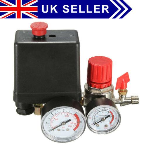 Pressure Switch Air Valve Manifold Compressor Control Regulator Gauges