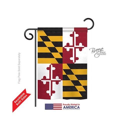 Breeze Decor 58102 States Maryland 2-Sided Impression Garden Flag - 13 x 18.5 in.