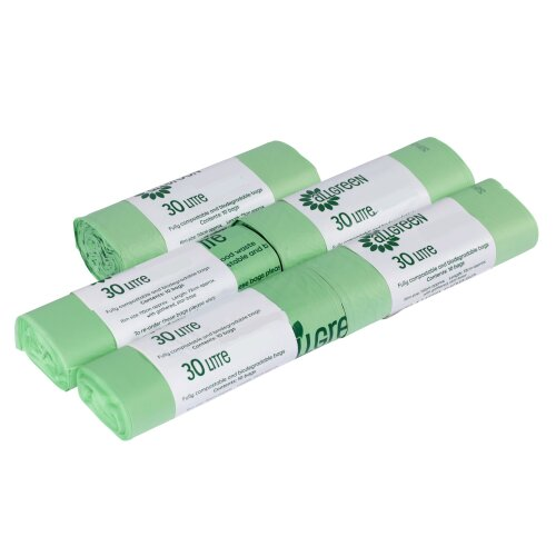 30 Litre All-Green Compostable Kerbside Caddy Liners - 50 Bags (30L)