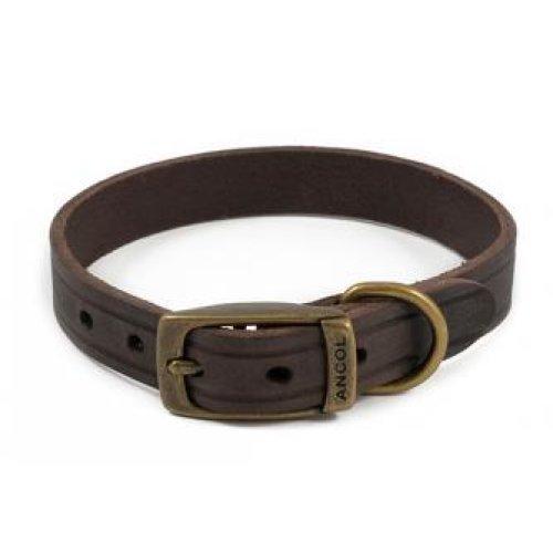 Heritage Latigo Leather Collar Havana 16mm X28-36cm Sz 3