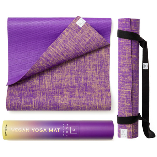 Yoke Wellness Vegan Yoga Mat ( Wild Flower)