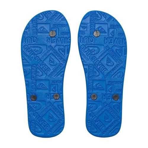 (UK 7) Quiksilver Molokai Flip flops - Blue / Black