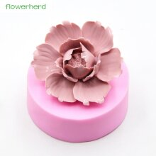 Big Size Silicone Soap Mold Peony Flower 3D