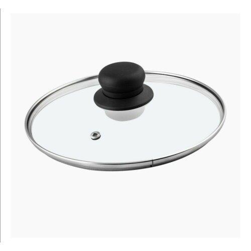 30CM Tempered Glass Saucepan Casserole Frying Pan Glass Lid