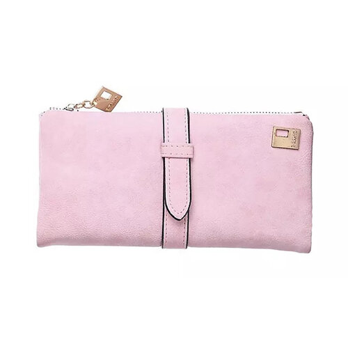 Wallets for Women Faux Suede Coin Purse Ladies Ultrathin Wallets -Pink