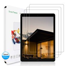 (3 Pack) Ultra Clear 9H Tempered Glass Anti Shatter HD Screen Protector for Apple iPad 10.2 8th Generation (2020)/ 7th (2019) Bubble-Free Anti-Scratch