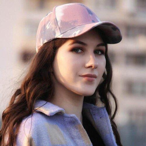 Tie-Dye Baseball Cap, Spring Lovers Colorful Snapback Hat Outdoor Adjustable Sun Graffiti Bone