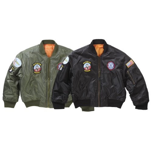 New Kids Airforce MA1 Flight Bomber Jacket Badges