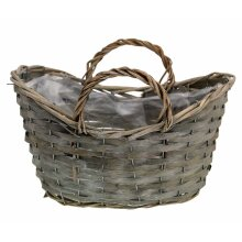 Victoria Willow Wicker Flower Herb Plant Planting Pot Basket with Plastic Liner