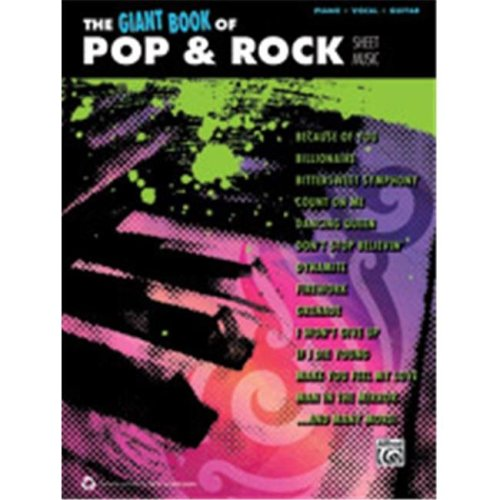 Alfred 00-40684 GIANT BOOK OF POP & ROCK SHEET- PVG