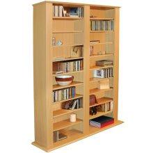 GENESIS - Multimedia 1060 CD / 420 DVD Blu-ray Storage Shelves - Beech