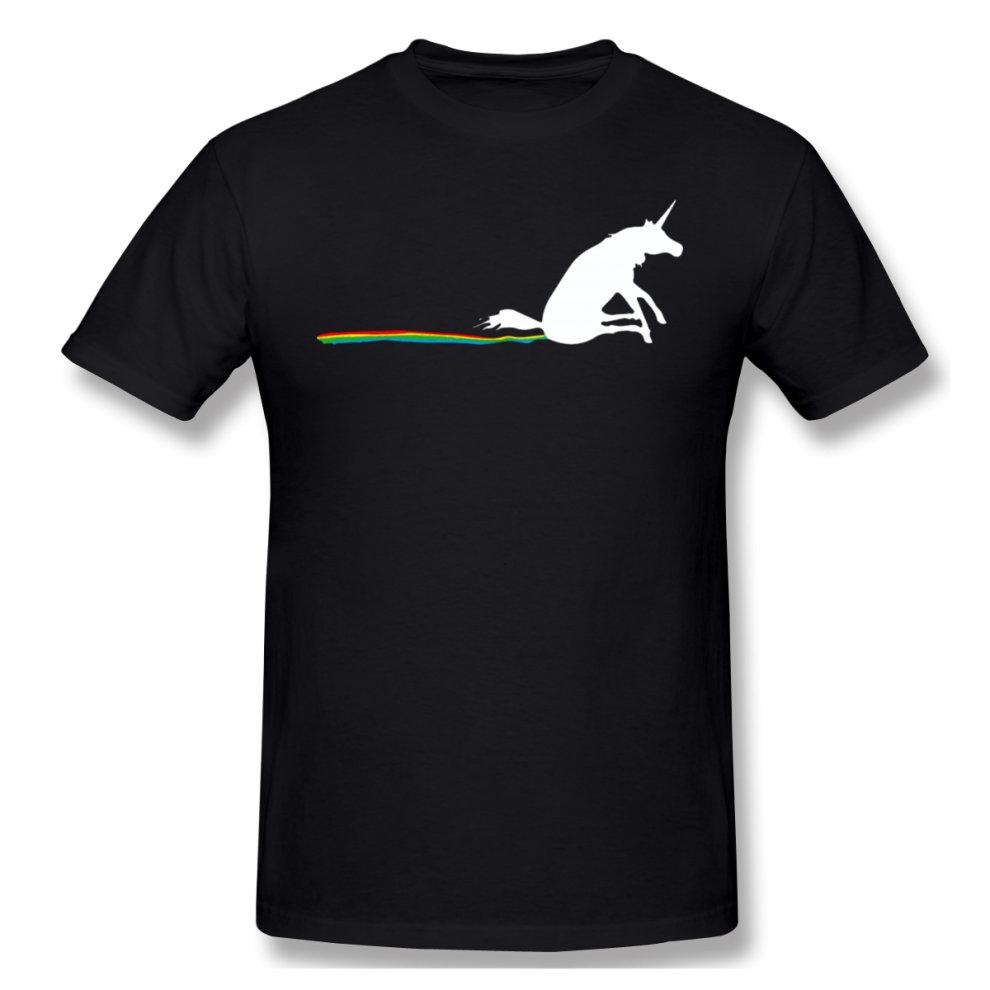 (XX-Large) Black Unicorn Farting Rainbows Graphic T Shirts ...