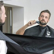 Beard Apron Beard Trimming Catcher Cape for Men Shaving & Hair Clippings Aksice, Non-Stick Hair Catcher Grooming Cloth, Waterproof, with 4 Suction Cup