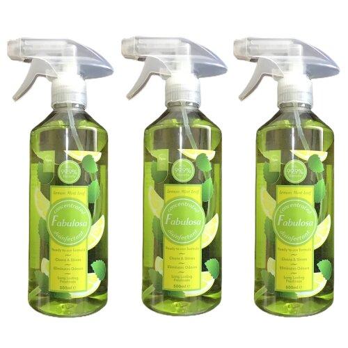 Fabulosa Disinfectant Spray Lemon Mint Leaf 500 ml 3 Bottles