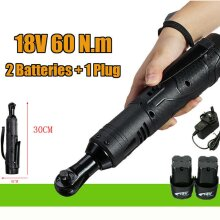 60Nm Electric Cordless Right Ratchet Angle Wrench Tool 18V Powerful