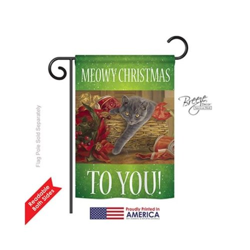 Breeze Decor 64098 Christmas Trouble 2-Sided Impression Garden Flag - 13 x 18.5 in.