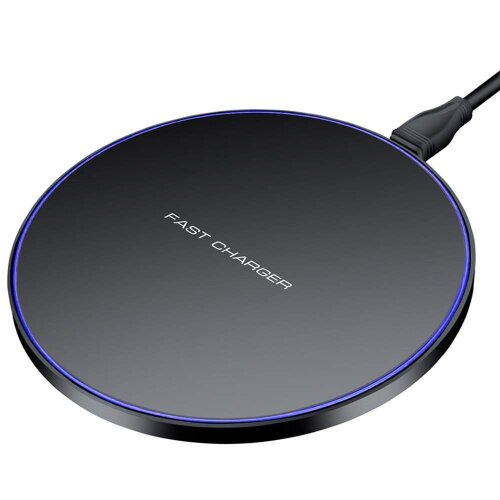 Honor 20e Round Black Universal Qi Wireless Charger Desktop Pad + Qi Receiver Micro USB