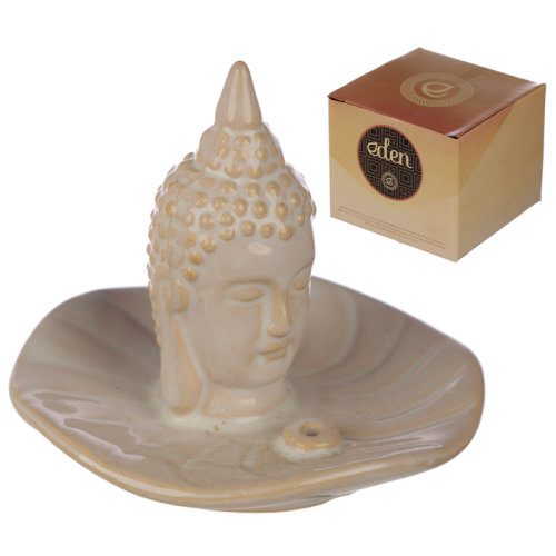 Eden Incense Burner - Thai Buddha and Leaf