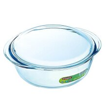 Pyrex Essentials Glass round Casserole High resistance 2.2 L (+ 0.8L Lid)