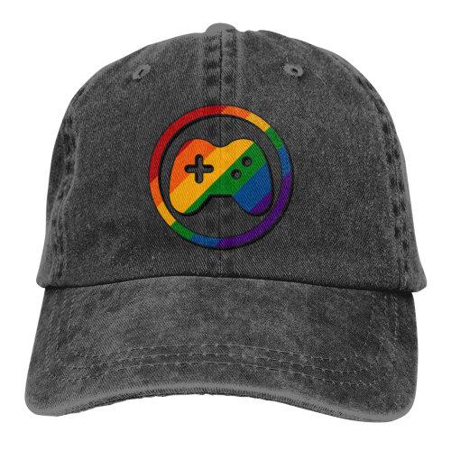 Game Rainbow Lesbian Gay Pride Denim Baseball Caps