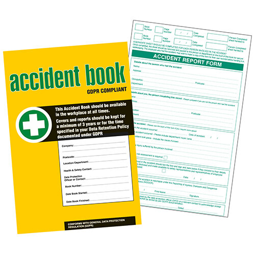 GDPR Compliant Business/Workplace Accident Report Book - A4