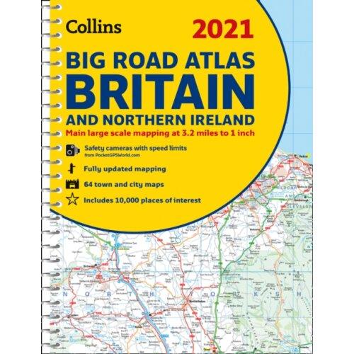GB Big Road Atlas Britain 2021 by Collins Maps