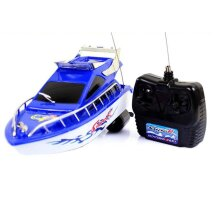 RC Speedboat Super Mini Electric Remote Control High Speed Boat, 4CH 20M Distance Ship RC Boat Game- Toys Kids