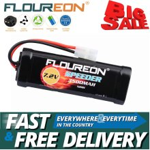 Floureon 7.2V 3500mAh Ni-MH Battery w/ Female-tamiya Plug for RC Car