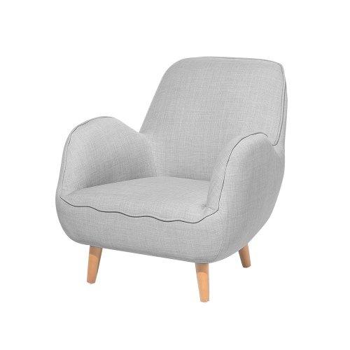 Fabric Armchair Light Grey KOUKI