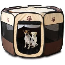 Pet Dog Cat Playpen Cage Crate Portable Folding Exercise Kennel Indoor & Outdoor use