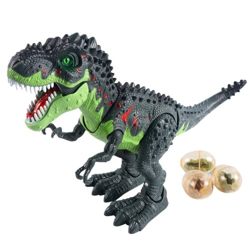 RC Dinosaur Remote Control Sounds Dinobot Electric Walking Animals Toy, Laying Eggs