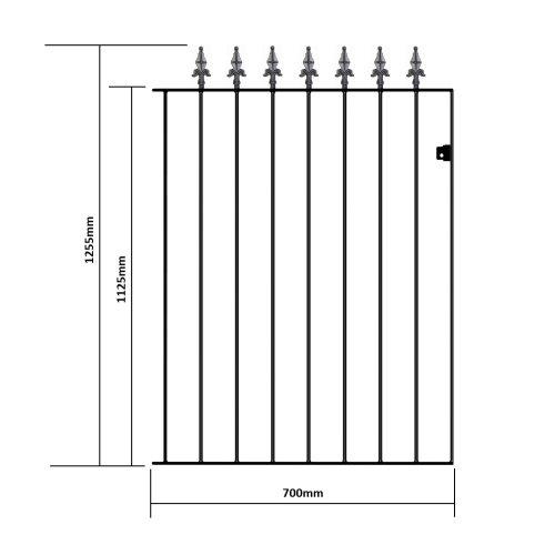 (762mm GAP X 1255mm High GA06/1) Gaelic Metal Garden Gates spear top 1255mm High