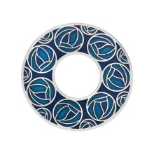 Mackintosh Roses Annulus Brooch Turquoise Silver Plated Brand New Gift Packaging