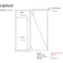 Capture CA-LB3049 Label 106 x 251. Core CA-LB3049