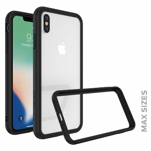RhinoShield Bumper FOR iPhone XS Max [CrashGuard NX] | Shock Absorbent Slim Design Protective Cover [3.5M / 11ft Drop Protection] - Black