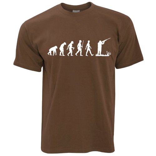 Novelty T Shirt The Evolution of Clay Pigeon Shooting Hobby Sport Activity