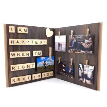 Im Happiest When Im Right Next to You Wood Photo Frame
