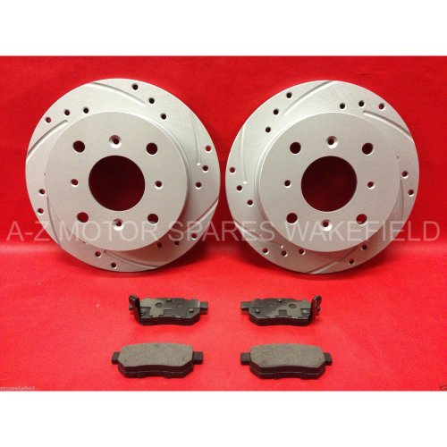 For Integra 1.8 DC2 Type R UK JDM rear grooved brake discs ADL pads 4 STUD