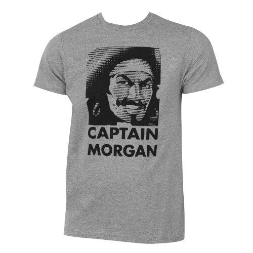 (Grey) Captain Morgan Face Logo Tee Shirt